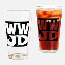 W W J D Drinking Glass