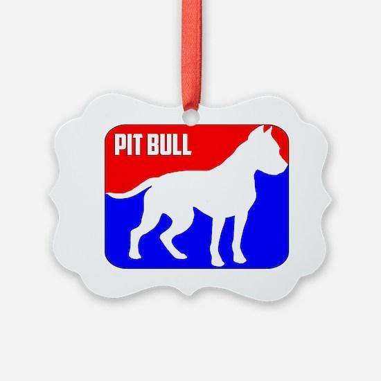 Major League Pit Bull Dog Ornament