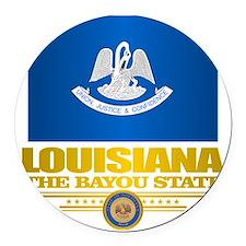 Louisiana Pride Round Car Magnet