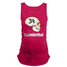 Three Percent Neanderthal Maternity Tank Top