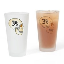 Three Percent Neanderthal Drinking Glass