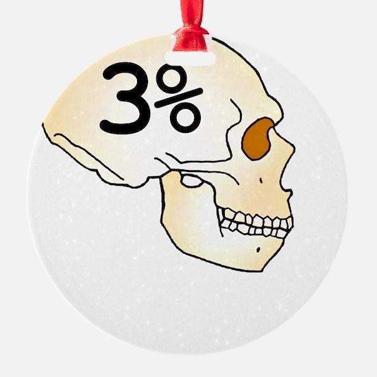 Three Percent Neanderthal Ornament