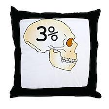 Three Percent Neanderthal Throw Pillow