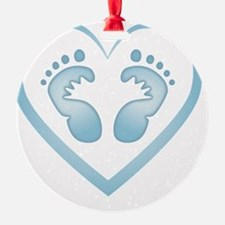 Baby Boy Footprints Ornament