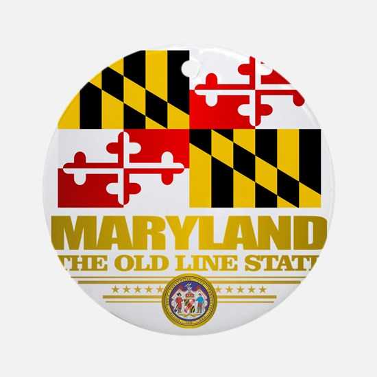 Maryland Pride Round Ornament