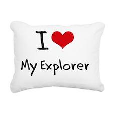 I love My Explorer Rectangular Canvas Pillow