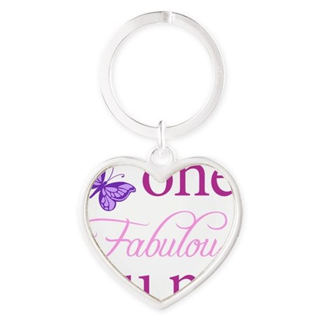 One Fabulous Aunt Heart Keychain