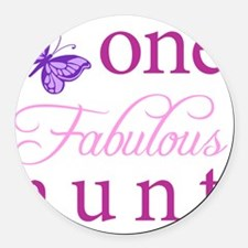 One Fabulous Aunt Round Car Magnet