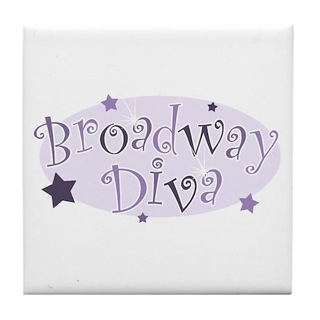 """Broadway Diva"" [purple] Tile Coaster"