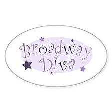 """Broadway Diva"" [purple] Oval Decal"