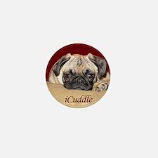 Adorable iCuddle Pug Puppy Mini Button