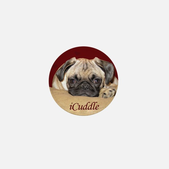 Adorable iCuddle Pug Puppy Mini Button