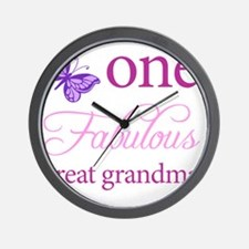 One Fabulous Great Grandma Wall Clock