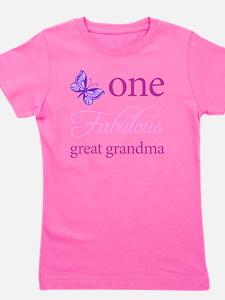 One Fabulous Great Grandma Girl's Tee