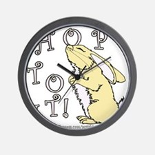 Cute Bunny Picture Wall Clock