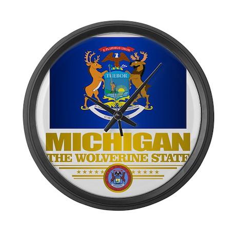 Michigan Pride Large Wall Clock