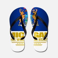Michigan Pride Flip Flops