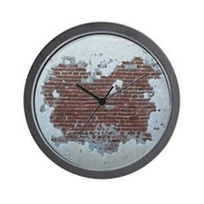Plaster and Brick Grunge Shower Curtain Wall Clock