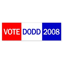 Vote Dodd 2008 Bumper Bumper Sticker