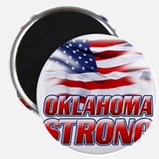 Oklahoma Strong (flag) copy Magnet