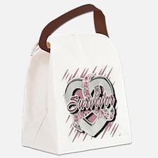 Survivor in Heart Canvas Lunch Bag
