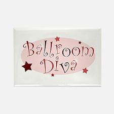 """""""Ballroom Diva"""" [red] Rectangle Magnet"""