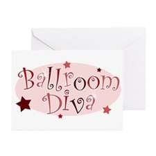 """Ballroom Diva"" [red] Greeting Cards (Pk of 10"