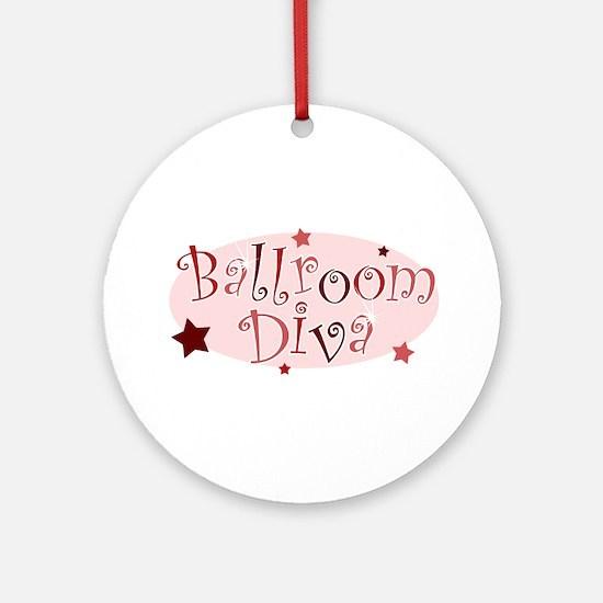 """Ballroom Diva"" [red] Ornament (Round)"