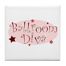 """""""Ballroom Diva"""" [red] Tile Coaster"""