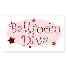 """Ballroom Diva"" [red] Rectangle Decal"