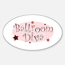 """Ballroom Diva"" [red] Oval Decal"