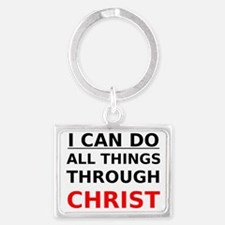 I Can Do All Things Through Chr Landscape Keychain