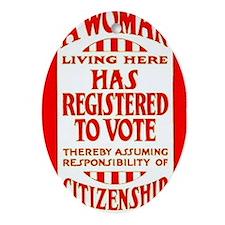 Citizenship Door Sticker Oval Ornament