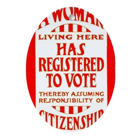 Citizenship Door Sticker Oval Ornament