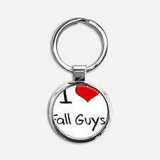 I Love Fall Guys Round Keychain