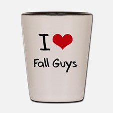 I Love Fall Guys Shot Glass