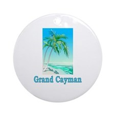 Grand Cayman Ornament (Round)