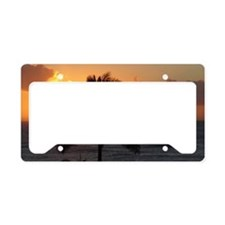 Paradise Palm Tree License Plate Holder