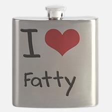 I Love Fatty Flask