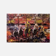 And Theyre Off Kentucky Derby Pos Rectangle Magnet