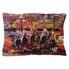 And Theyre Off Kentucky Derby Poster P Pillow Case