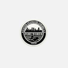 Fort worth logo black and white Mini Button