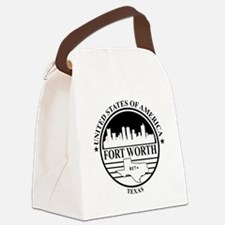 Fort worth logo white and black Canvas Lunch Bag