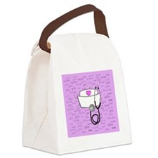 Nurse Pink Canvas Lunch Bag