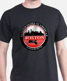 Boston logo black and red T-Shirt
