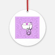 Nurse Pink Round Ornament