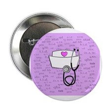 "Nurse Pink 2.25"" Button"