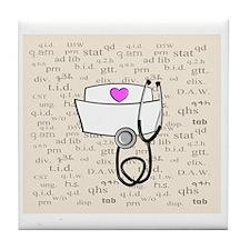 Nurse Cream Tile Coaster