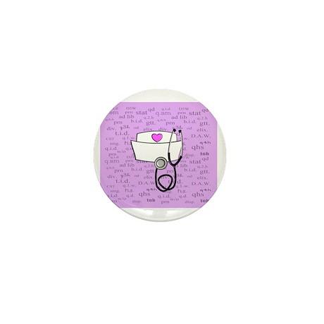 Nurse Pink Mini Button