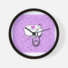 Nurse Pink Wall Clock